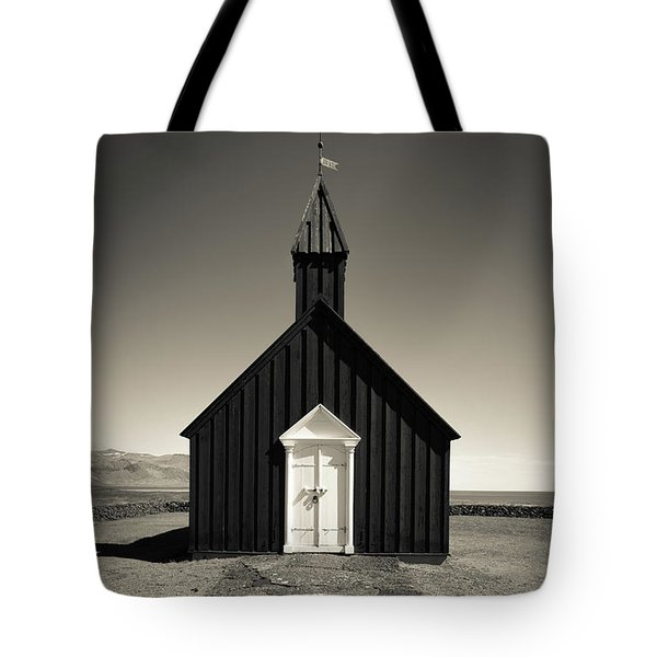 Tote Bag featuring the photograph The Black Church by Edward Fielding