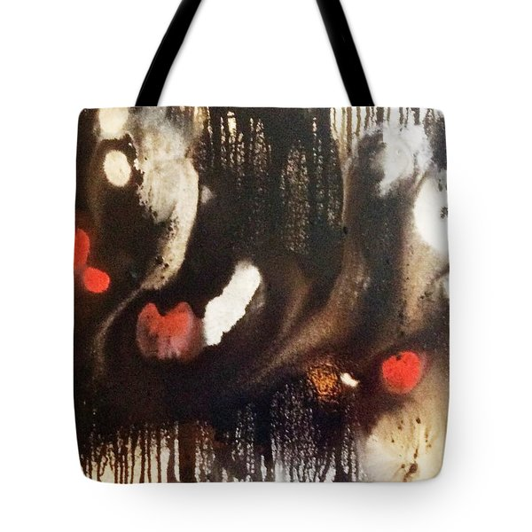 Tote Bag featuring the painting The Black Hole by Pat Purdy