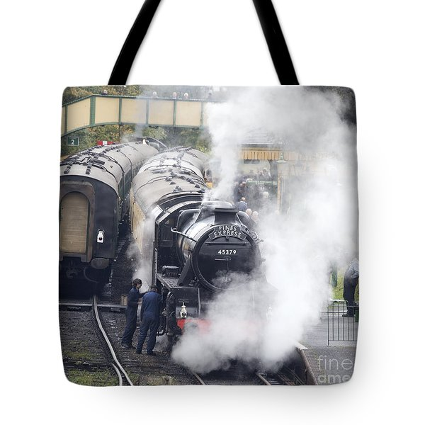 The Black Five Steam Locomotive 45379 Tote Bag