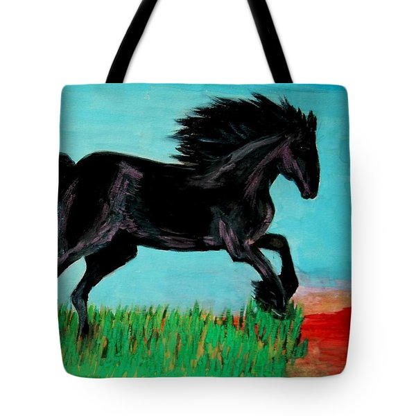 The Black Stallion Tote Bag