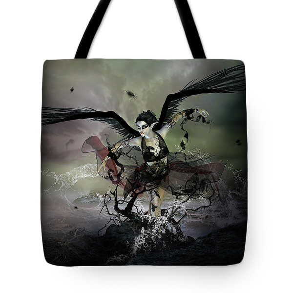 The Black Swan Tote Bag by Mary Hood