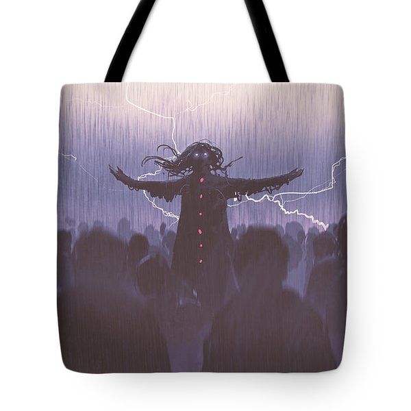 The Black Wizard Tote Bag