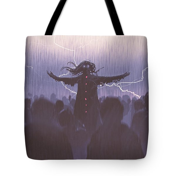 The Black Wizard Tote Bag