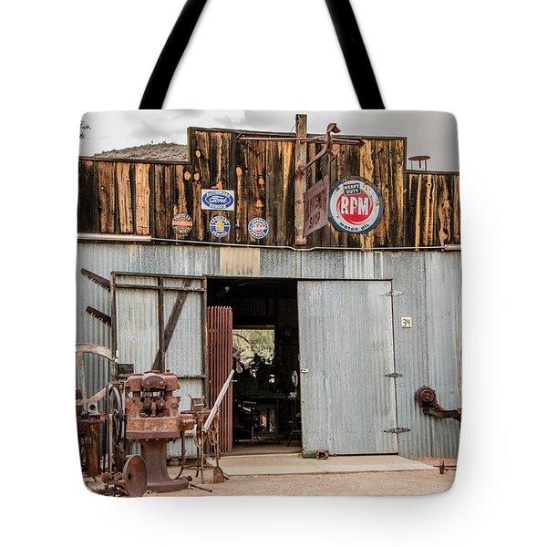 The Blacksmith Shop Tote Bag