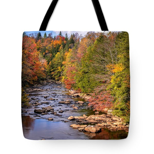 The Blackwater River In Autumn Color Tote Bag