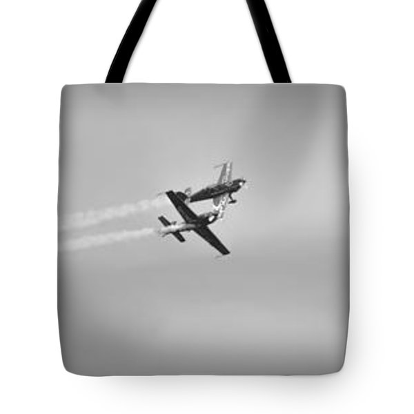 Tote Bag featuring the photograph The Blades Aerial Gymnastics Sunderland Air Show 2014 by Scott Lyons