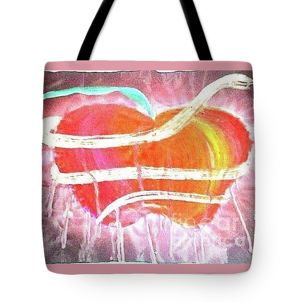The Bleeding Heart Of The Illuminated Forbidden Fruit Tote Bag by Talisa Hartley