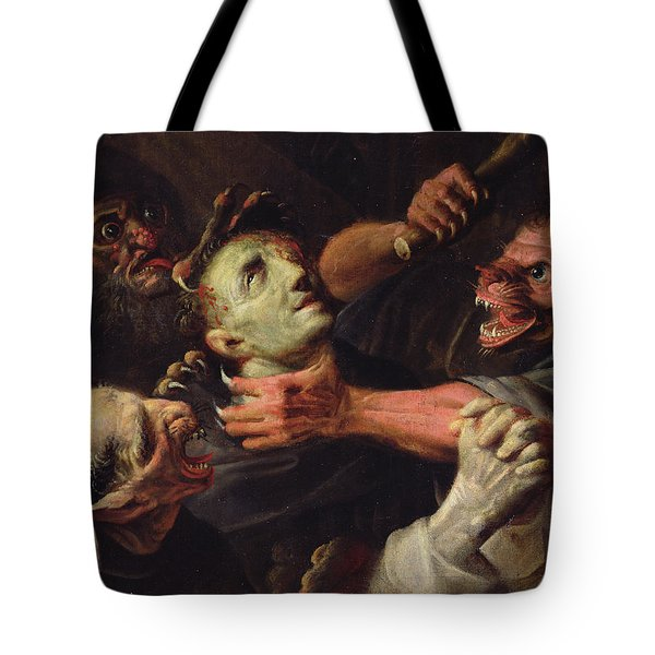 The Blessed Guillaume De Toulouse Tormented By Demons Tote Bag