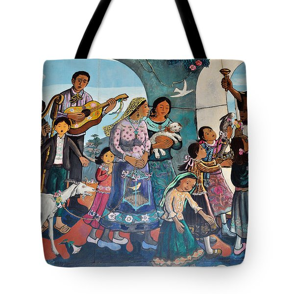 The Blessing Of Animals Olvera Street Tote Bag