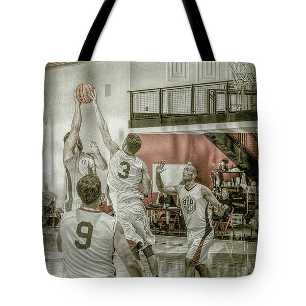 Tote Bag featuring the photograph The Block by Ronald Santini