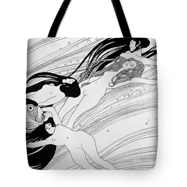 The Blood Of Fish Tote Bag by Gustav Klimt