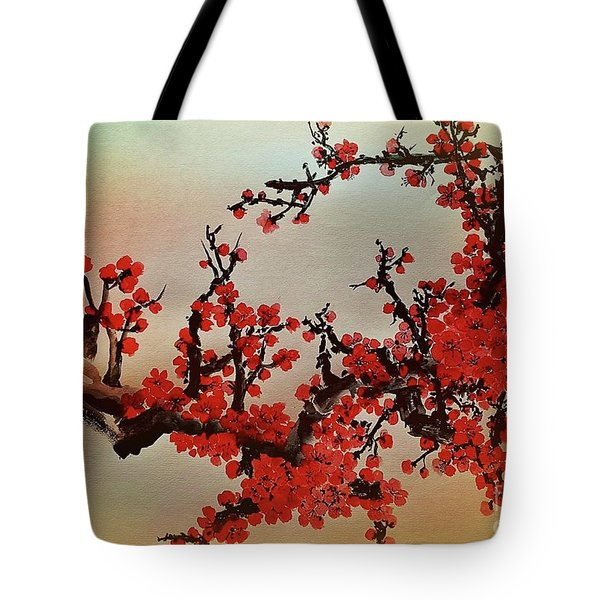 The Bloom Of Cherry Blossom Tote Bag