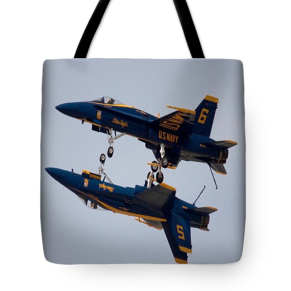 The Blue Angels Flying Over The Another Tote Bag
