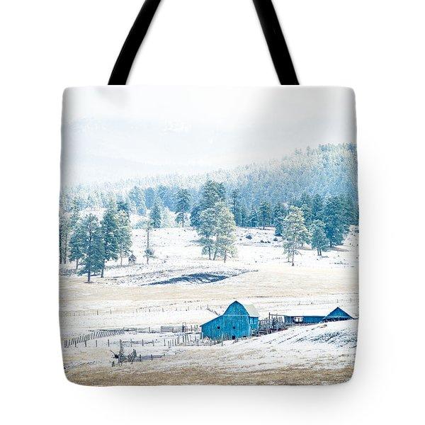 The Blue Barn Tote Bag