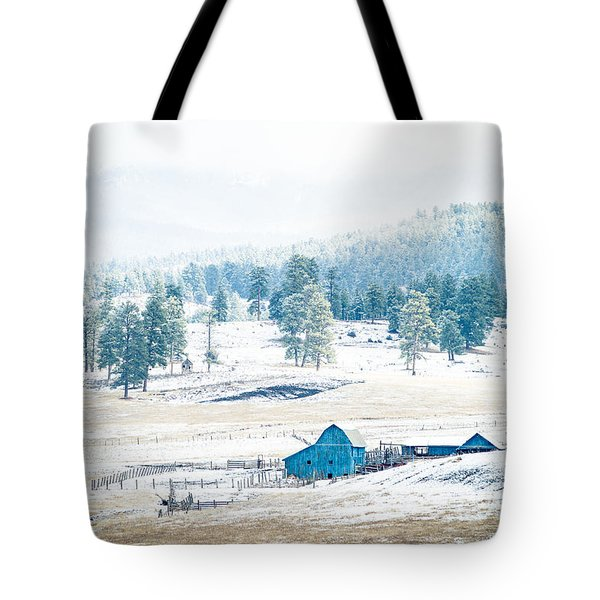 The Blue Barn Tote Bag