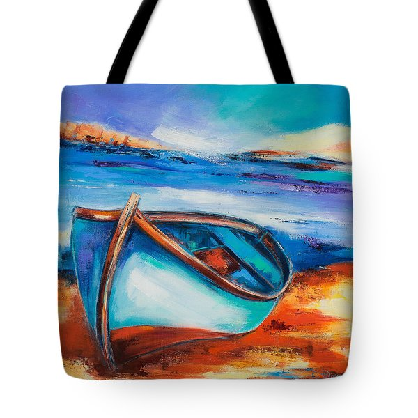 The Blue Boat Tote Bag by Elise Palmigiani