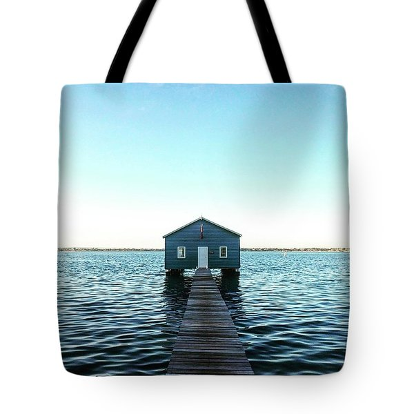 The Blue Boathouse  Tote Bag