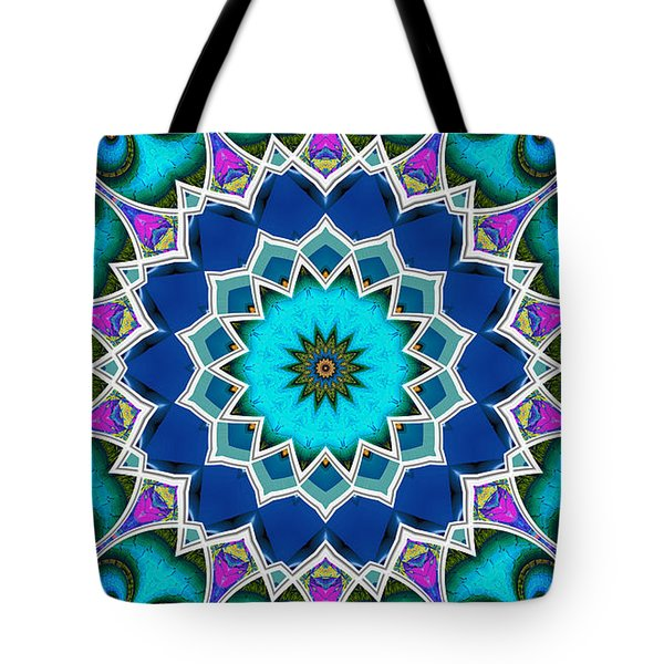 Tote Bag featuring the digital art The Blue Collective 01a by Wendy J St Christopher