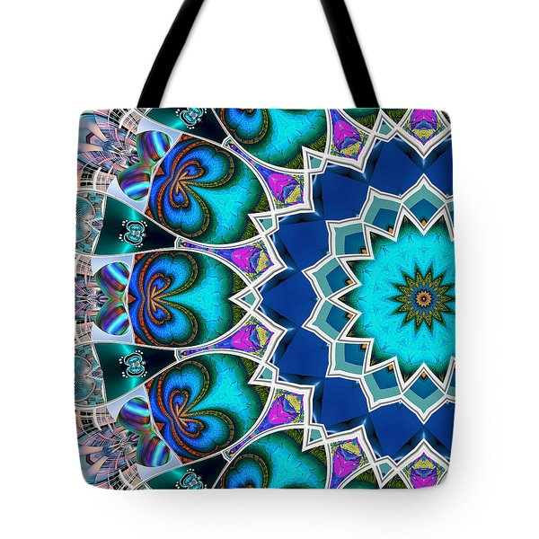 Tote Bag featuring the digital art The Blue Collective 01b by Wendy J St Christopher