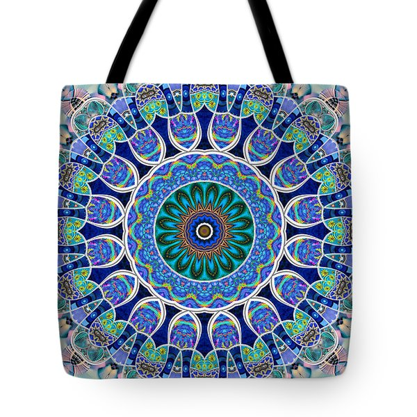 Tote Bag featuring the digital art The Blue Collective 02a by Wendy J St Christopher