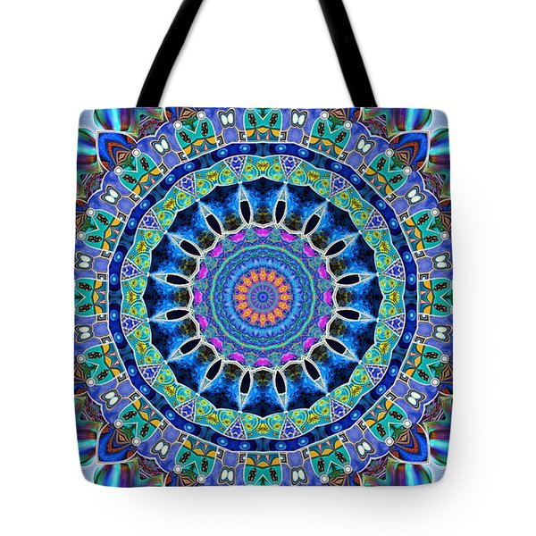 Tote Bag featuring the digital art The Blue Collective 03a by Wendy J St Christopher