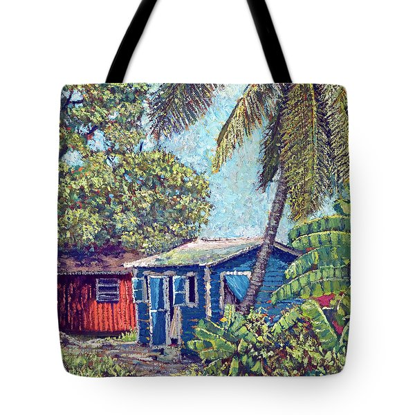 The Blue Cottage Tote Bag