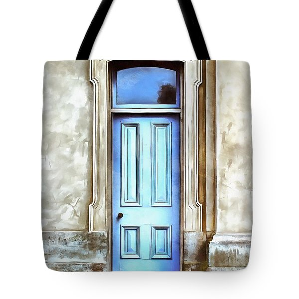Tote Bag featuring the painting The Blue Door by Edward Fielding