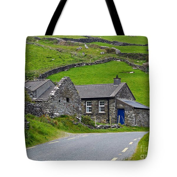 The Blue Door Tote Bag by Patricia Griffin Brett