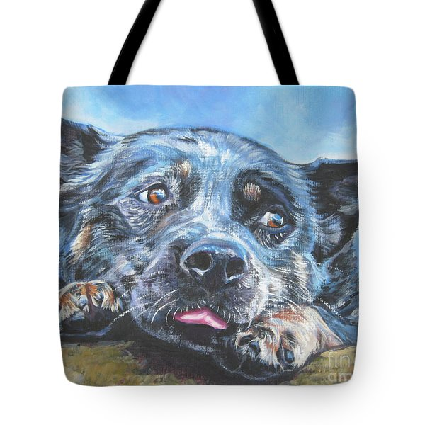 Tote Bag featuring the painting The Blue Heeler by Lee Ann Shepard