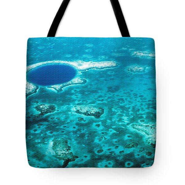 The Blue Hole Tote Bag