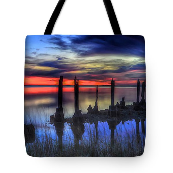 The Blue Hour Comes To St. Marks #2 Tote Bag