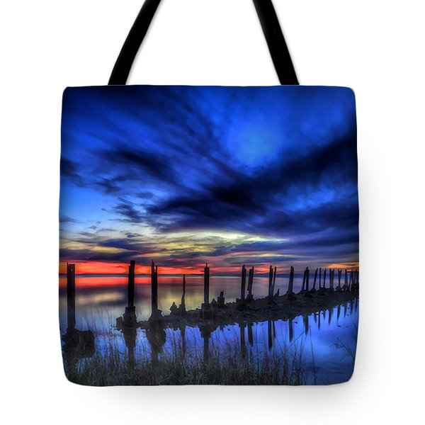 The Blue Hour Comes To St. Marks #1 Tote Bag