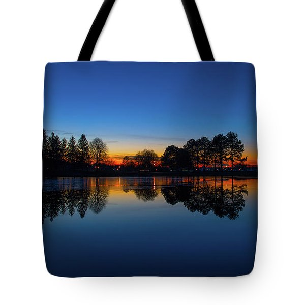 Tote Bag featuring the photograph The Blue Hour.. by Nina Stavlund