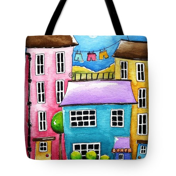 The Blue House Tote Bag by Lucia Stewart