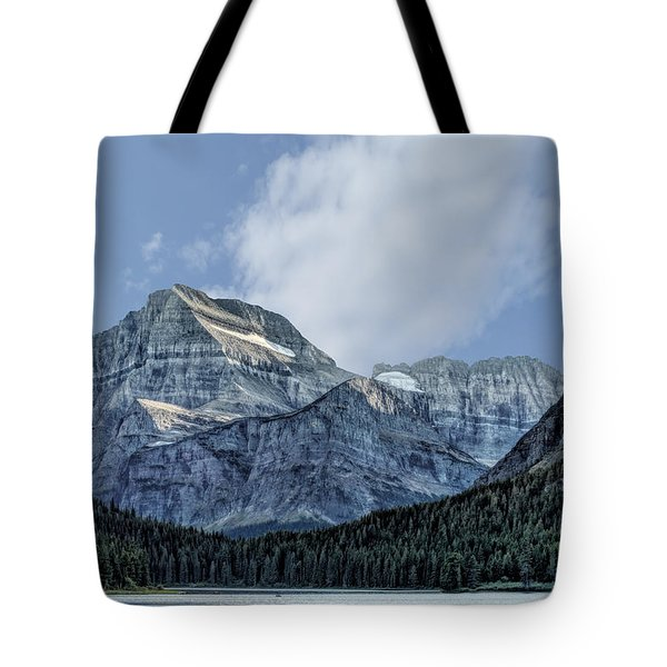 The Blue Mountains Of Glacier National Park Tote Bag