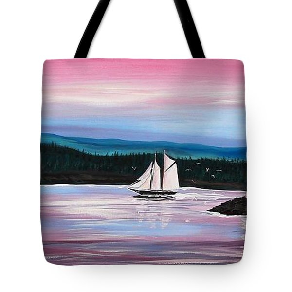 The Blue Nose II At Baddeck Nova Scotia Tote Bag