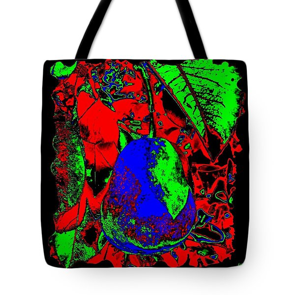 The Blue Pear Tote Bag by Will Borden