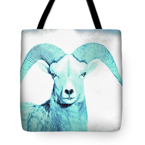 Tote Bag featuring the photograph The Blue Ram by Jennie Marie Schell