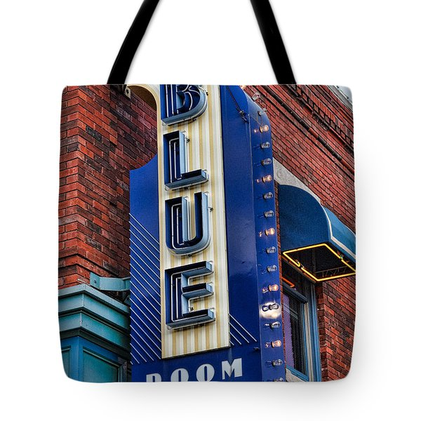 The Blue Room Sign Tote Bag by Steven Bateson