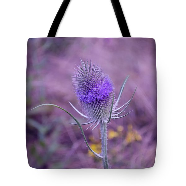 The Blue Softness Of A Teasel Tote Bag by Michelle Meenawong