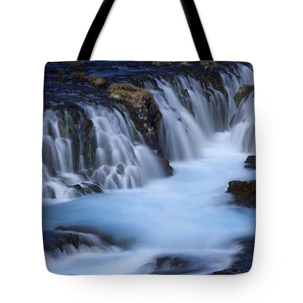 The Blue Waterfalls Tote Bag by Dominique Dubied