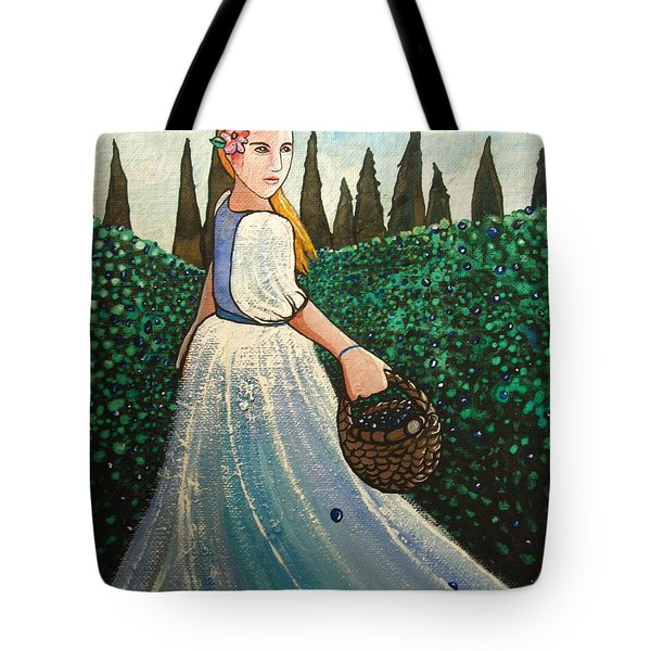 The Blueberry Harvest Tote Bag