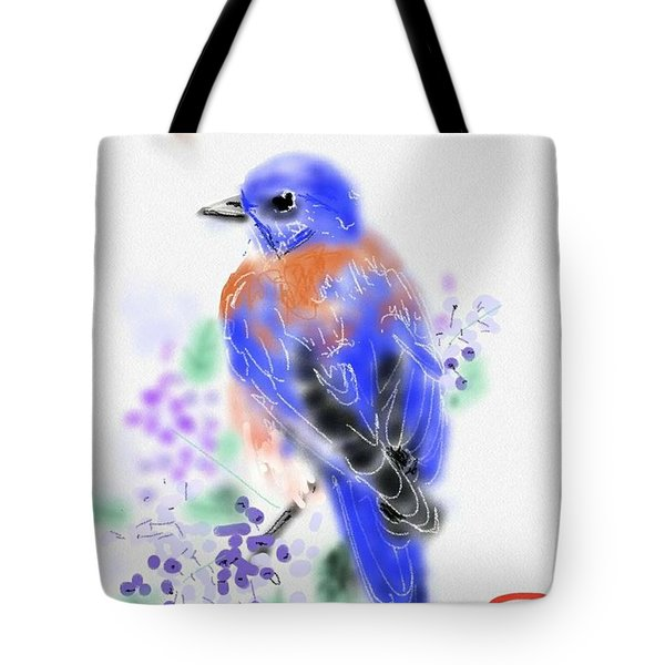 The Bluebird Sings  Tote Bag