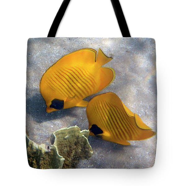 The Bluecheeked Butterflyfish Tote Bag