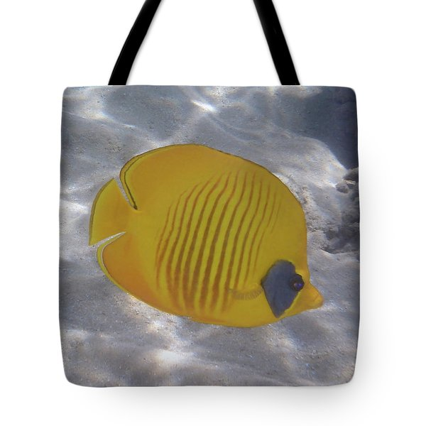 The Bluecheeked Butterflyfish Red Sea Tote Bag