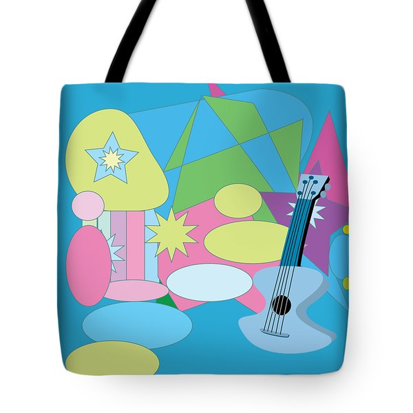Tote Bag featuring the digital art The Blues by Eleni Mac Synodinos
