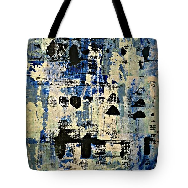 The Blues Abstract Tote Bag