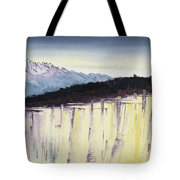 The Bluff And The Mountains Tote Bag by Carolyn Doe