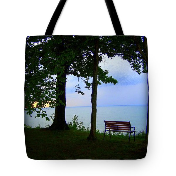 The Bluffs Bench Tote Bag