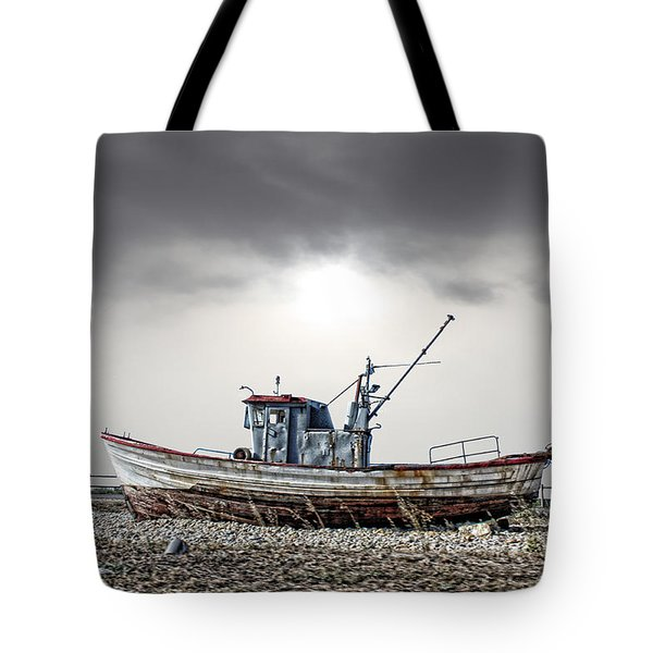 Tote Bag featuring the photograph The Boat by Angel Jesus De la Fuente